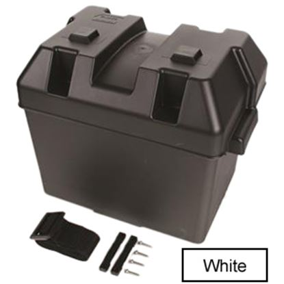 Picture of Camco  Black Group 24 Battery Box With Lid 55362 19-2001