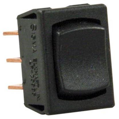Picture of JR Products  Black 125V/ 13A SPDT Rocker Switch 13725 19-2049