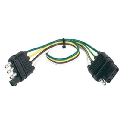 """Picture of Hopkins  4-Wire 12"""" Trailer Connector Extension 48145 19-2377"""