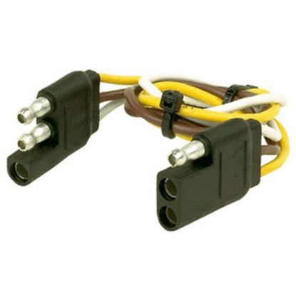 """Picture of Husky Towing  12"""" 3-Flat Trailer Wiring Extension Cord/Loop, Bulk 30311 19-3840"""