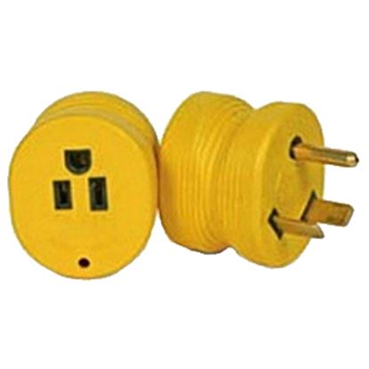 Picture of Camco Power Grip (TM) 30M/15F Power Cord Adapter 55232 19-4029
