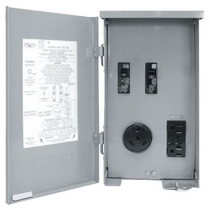 Picture of Parallax  120V/ 30A Single Round Receptacle w/20A GFI PG-U041C 19-4286