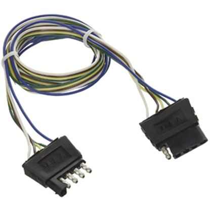 """Picture of Camco  5-Way Flat Trailer Connector w/ 12"""" L Lead Wire 64856 19-7800"""