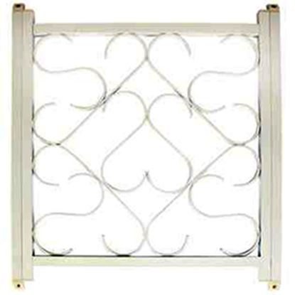 "Picture of Camco  20"" To 32"" White Aluminum Deluxe Scroll Screen Door Grille 43997 20-0089"