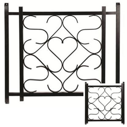 "Picture of Camco  20"" To 32"" Black Aluminum Deluxe Scroll Screen Door Grille 43993 20-0164"