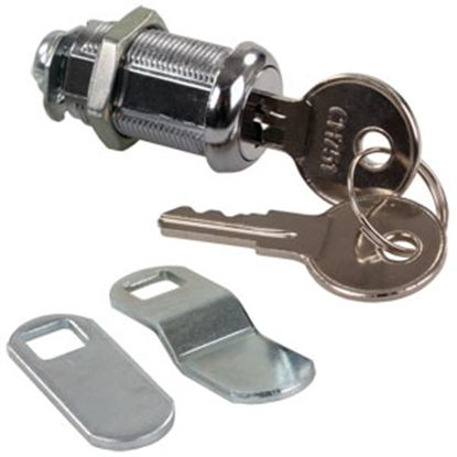 "Picture of JR Products  1-1/8"" Standard Key Baggage Door Lock 00325 20-1217"
