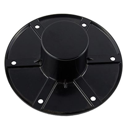 "Picture of AP Products  6"" Black Round Flush Mount Table Leg Base 013-1112B 20-1392"