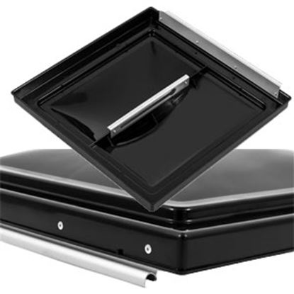"""Picture of Camco  Black Polypropylene 14"""" x 14"""" Elixir Style Roof Vent Lid 40170 22-0412"""