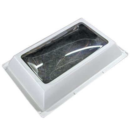 """Picture of Specialty Recreation  4""""H Bubble Dome SQ White PC Skylight w/24"""" X 24"""" Flange N2222 22-0711"""