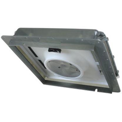 """Picture of Fan-Tastic Vent  Smoke 14""""x14"""" Roof Vent w/Fan 800501 22-2242"""