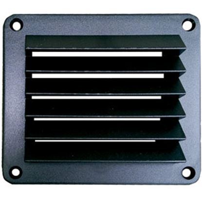 """Picture of Leisure Time  Black ABS 5"""" Square Wall Vent w/ Fixed Louvers DV55B 22-3554"""