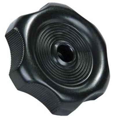 "Picture of JR Products  0.27"" Black Plastic Window Crank Knob 20365 23-0577"