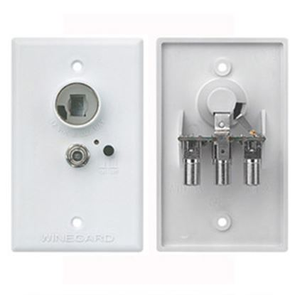 Picture of Winegard  White 12V Wall Plate Power Supply RV-7042 24-0450