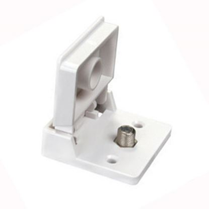 Picture of JR Products  Aluminum Weather Proof Roof or Wall Mount Single Cable TV Plate 47755 24-0594