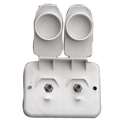 Picture of Prime Products  White Outdoor Dual Cable TV Receptacle w/ Cover 08-6212 24-1059
