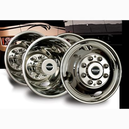 "Picture of Pacific Dualies  4-Set 16"" 6 Lug Snap-On Wheel Simulator 44-1608 25-1017"