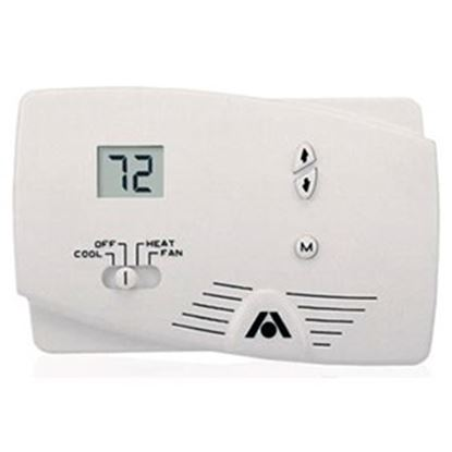 Picture of Dometic  White Single Stage Heat/Cool Digital Wall Thermostat 38555 41-1596