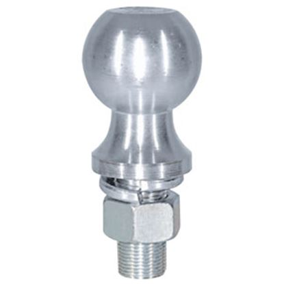 """Picture of Buyer's  6K lbs. 2-1/8"""" Shank 2-5/16"""" x 1"""" Lift Zinc Hitch Ball 1802162 69-0626"""