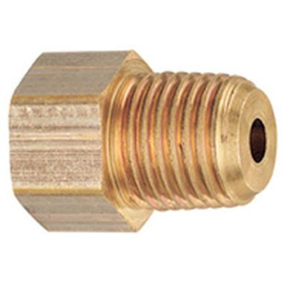 "Picture of MB Sturgis  1/4"" Female IF X 1/4"" MNPT Brass LP Adapter Fitting w/Back Check 204120PKG 69-6654"