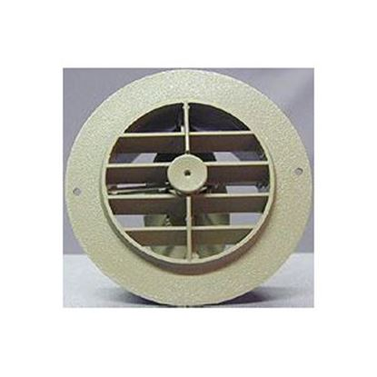 """Picture of D&W INC.  Beige 4"""" Round 360 Deg Rotation Heating/ Cooling Register w/ Damper 3840RDB 69-8746"""