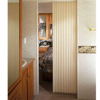 "Picture of Irvine  Ivory 24""x75"" HD Fabric Pleated Folding Interior Door 2475FDIVBH 69-9188"