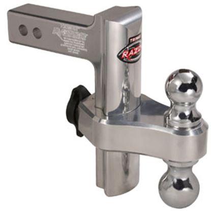 "Picture of Trimax Locks  Class III/IV 2"" 10K 6"" Adj Drop/ Lift Aluminum Double Ball Mount TRZ6AL 69-9924"