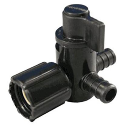 """Picture of EcoPoly Fittings  1/2"""" PEX x 1/2"""" FPT Swivel End Nut Plastic Shut Off Valve 28913 88-9313"""