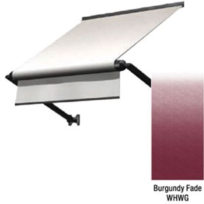 "Picture of Lippert Solera Burgundy Fade Vinyl 66""L X 18""Ext Manual Window Awning V000335158 90-2390"