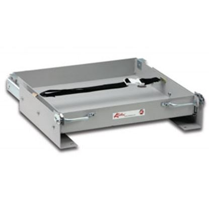 """Picture of Kwikee  18-5/16""""L x 24-9/16""""W x 3-3/16""""H Steel Battery Tray for 1-8 Batteries 366499 90-7793"""