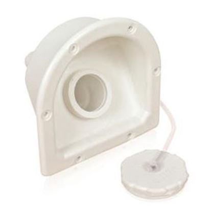 Picture of Camco  White Plastic Recessed Mount Fresh Water Inlet 37221 93-9124